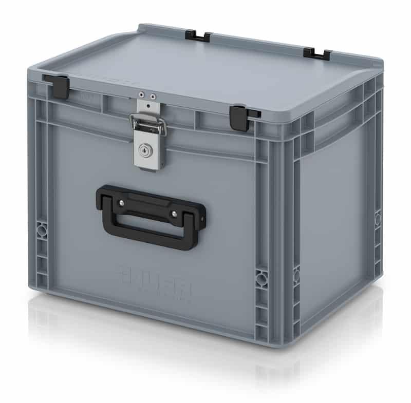 Eurobehälter / Eurobox Koffer mit Verschließsystem 1G 40 x 30 x 33,5 cm AUER packaging