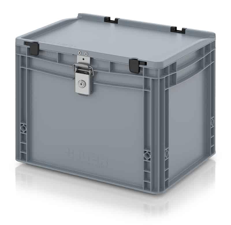 Abschließbarer Eurobehälter / Eurobox 40 x 30 x 33,5 cm AUER packaging