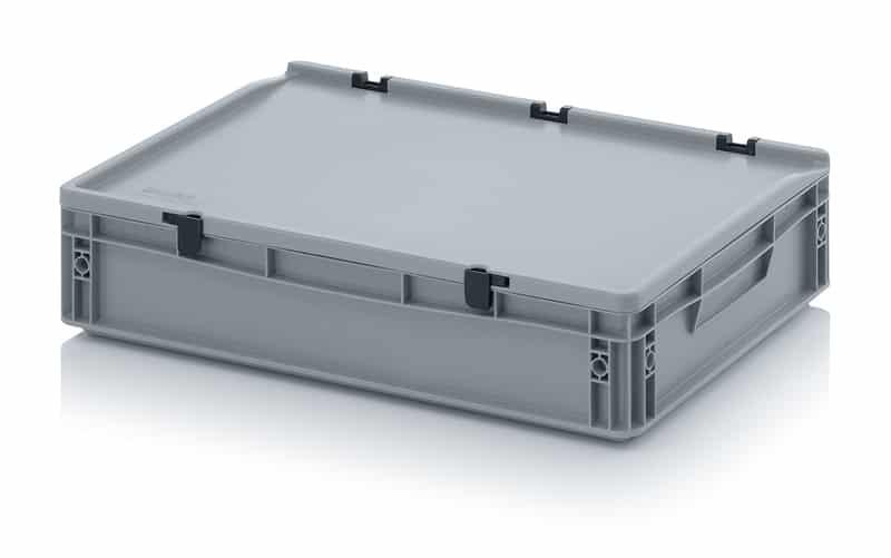 Eurobehälter / Eurobox mit Scharnierdeckel 60 x 40 x 13,5 cm AUER packaging