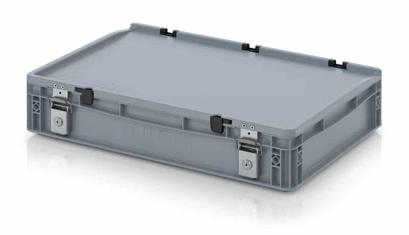 Abschließbarer Eurobehälter / Eurobox 60 x 40 x 13,5 cm AUER packaging