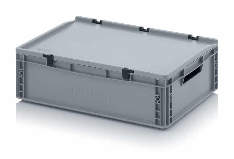 Eurobehälter / Eurobox mit Scharnierdeckel 60 x 40 x 18,5 cm AUER packaging