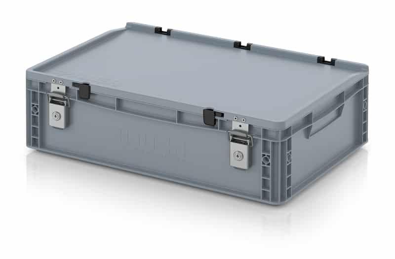 Abschließbarer Eurobehälter / Eurobox 60 x 40 x 18,5 cm AUER packaging