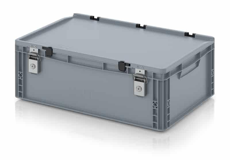 Abschließbarer Eurobehälter / Eurobox 60 x 40 x 23,5 cm AUER packaging