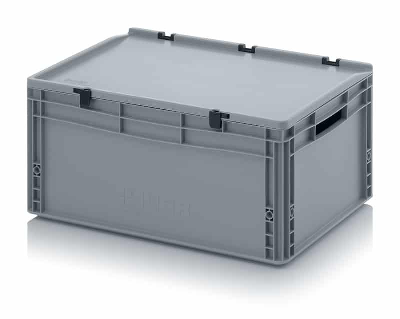 Eurobehälter / Eurobox mit Scharnierdeckel 60 x 40 x 28,5 cm AUER packaging