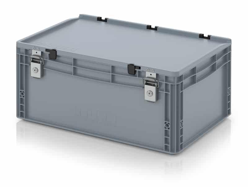 Abschließbarer Eurobehälter / Eurobox 60 x 40 x 28,5 cm AUER packaging