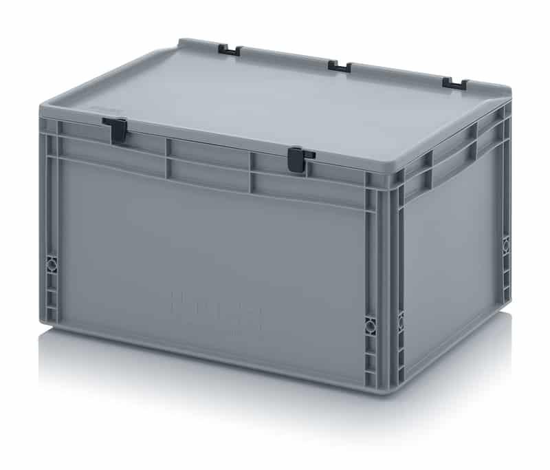 Eurobehälter / Eurobox mit Scharnierdeckel 60 x 40 x 33,5 cm AUER packaging