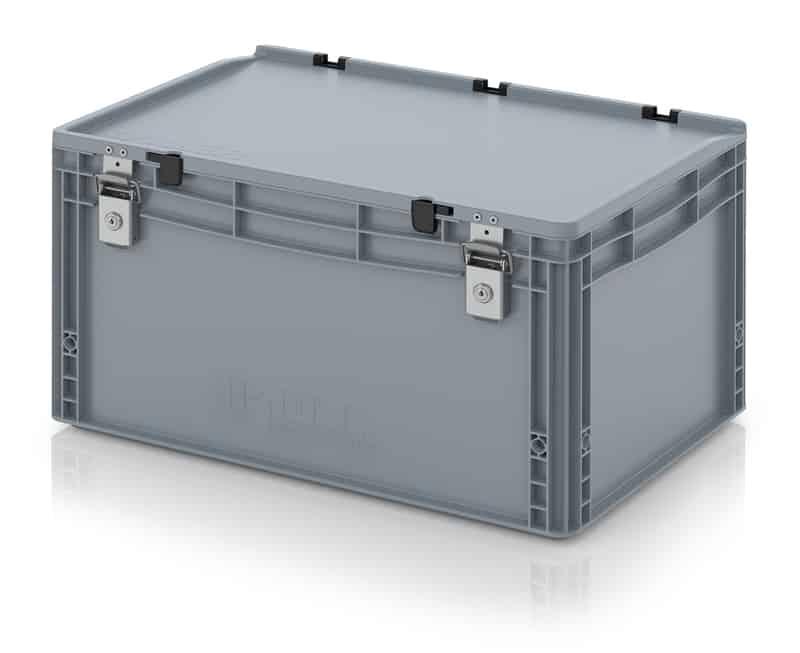 Abschließbarer Eurobehälter / Eurobox 60 x 40 x 33,5 cm AUER packaging
