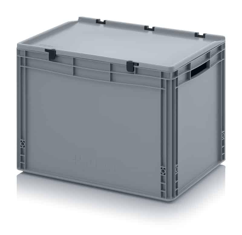 Eurobehälter / Eurobox mit Scharnierdeckel 60 x 40 x 43,5 cm AUER packaging
