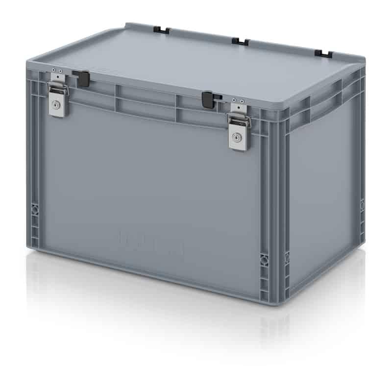 Abschließbarer Eurobehälter / Eurobox 60 x 40 x 43,5 cm AUER packaging