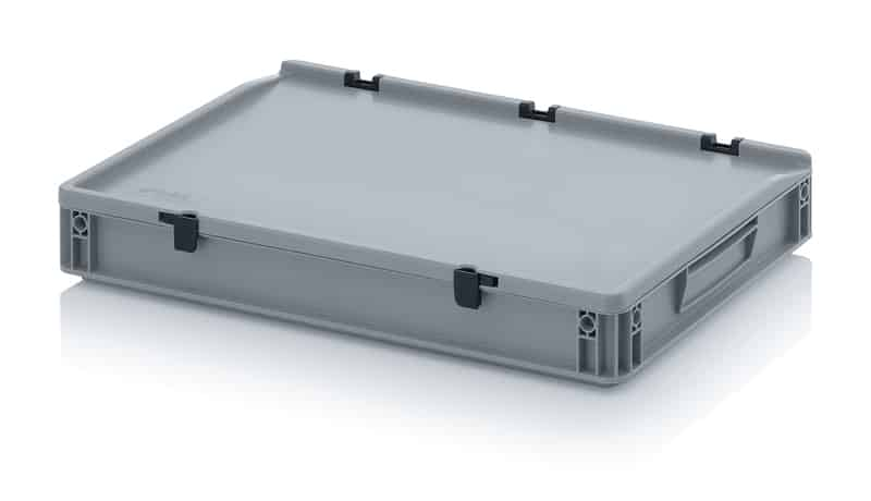 Eurobehälter / Eurobox mit Scharnierdeckel 60 x 40 x 9 cm AUER packaging