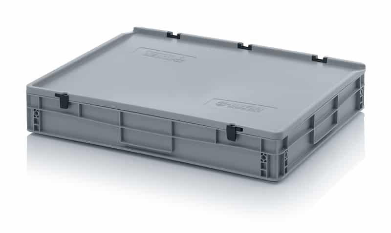 Eurobehälter / Eurobox mit Scharnierdeckel 80 x 60 x 13,5 cm AUER packaging