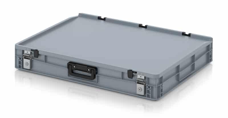 Eurobehälter / Eurobox Koffer mit Verschließsystem 1G 80 x 60 x 13,5 cm AUER packaging