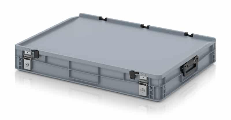 Eurobehälter / Eurobox Koffer mit Verschließsystem 2G 80 x 60 x 13,5 cm AUER packaging