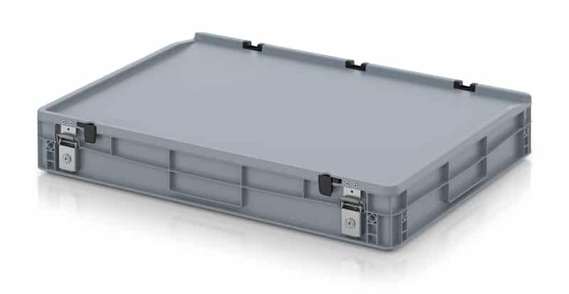 Abschließbarer Eurobehälter / Eurobox 80 x 60 x 14 cm AUER packaging