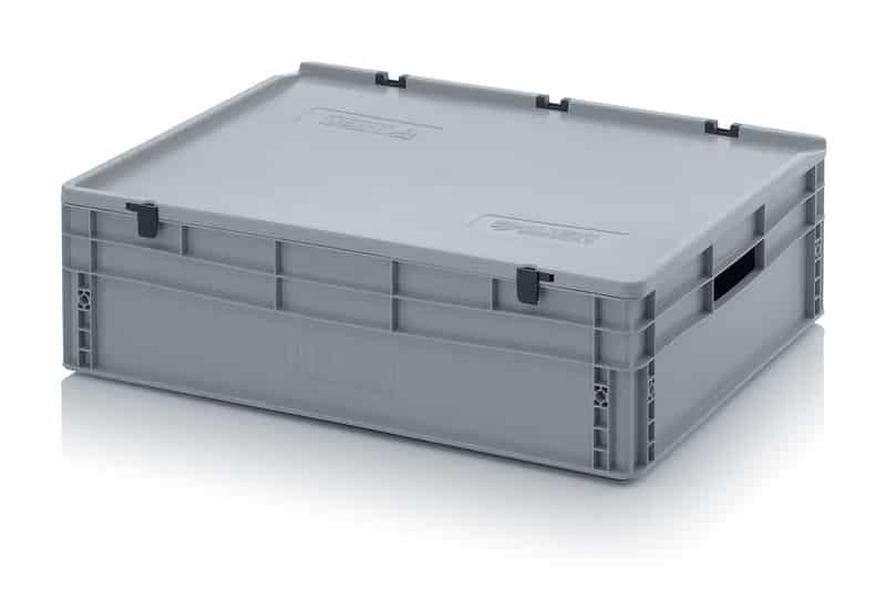 Eurobehälter / Eurobox mit Scharnierdeckel 80 x 60 x 23,5 cm AUER packaging