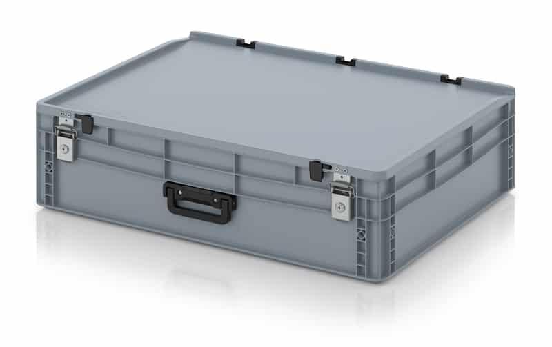 Eurobehälter / Eurobox Koffer mit Verschließsystem 1G 80 x 60 x 23,5 cm AUER packaging