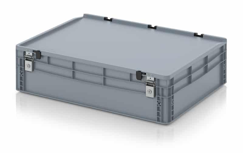 Abschließbarer Eurobehälter / Eurobox 80 x 60 x 23,5 cm AUER packaging