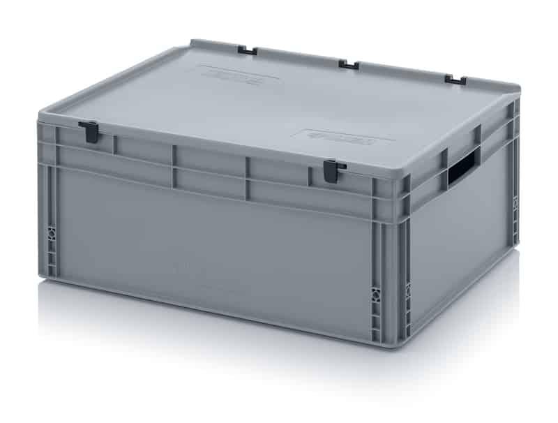 Eurobehälter / Eurobox mit Scharnierdeckel 80 x 60 x 33,5 cm AUER packaging