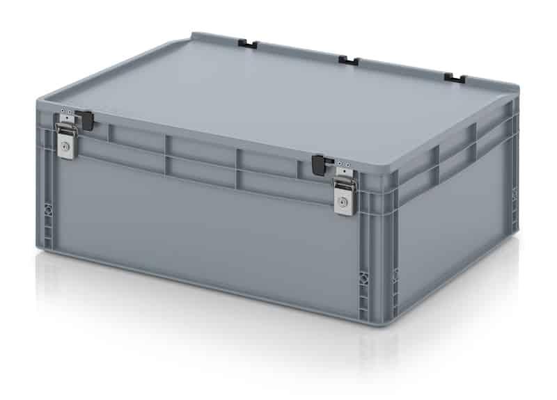 Abschließbarer Eurobehälter / Eurobox 80 x 60 x 33,5 cm AUER packaging