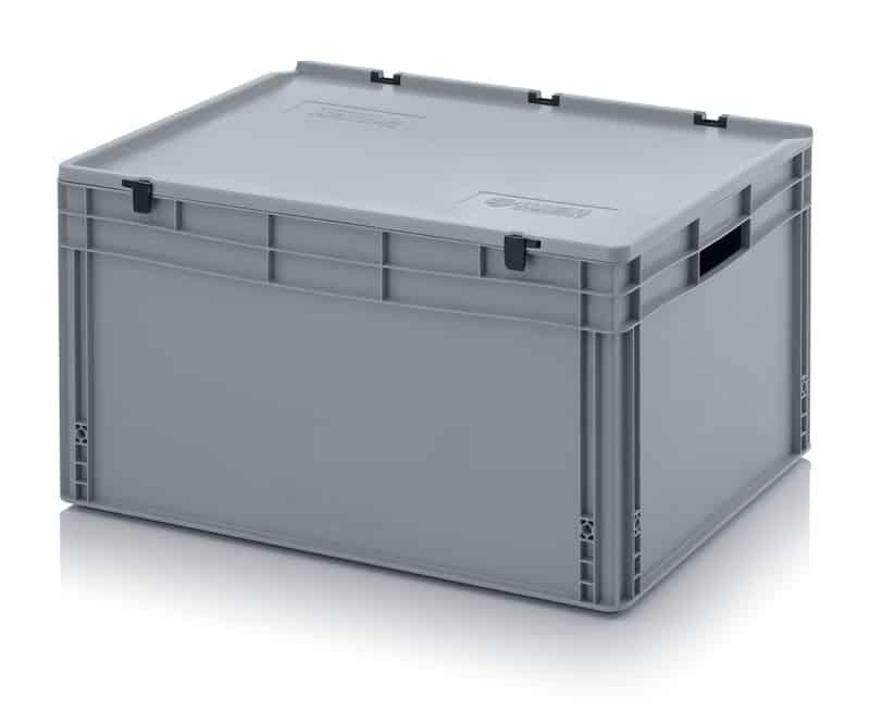 Eurobehälter / Eurobox mit Scharnierdeckel 80 x 60 x 43,5 cm AUER packaging