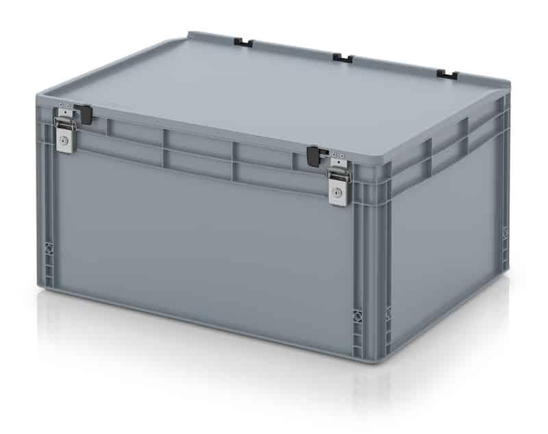 Abschließbarer Eurobehälter / Eurobox 80 x 60 x 43,5 cm AUER packaging