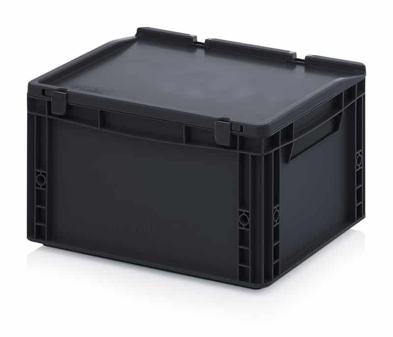ESD-Eurobehälter / Eurobox mit Scharnierdeckel 40 x 30 x 23,5 cm AUER packaging