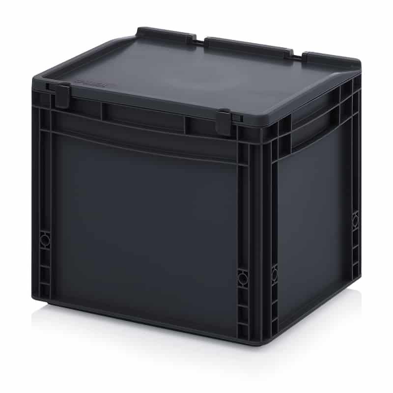 ESD-Eurobehälter / Eurobox mit Scharnierdeckel 40 x 30 x 33,5 cm AUER packaging