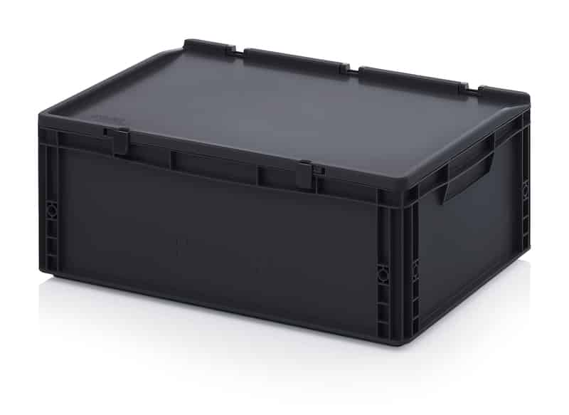 ESD-Eurobehälter / Eurobox mit Scharnierdeckel 60 x 40 x 23,5 cm AUER packaging