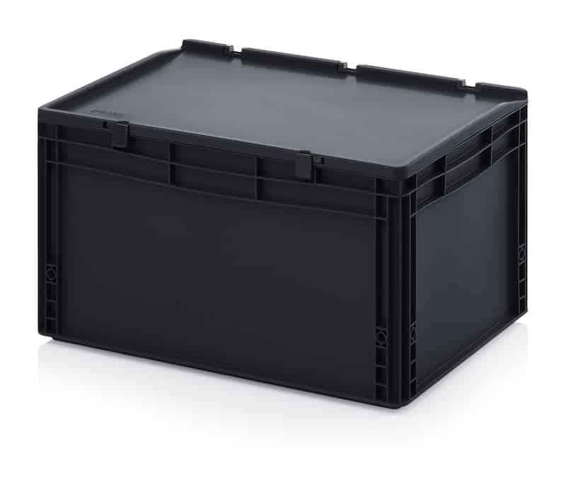 ESD-Eurobehälter / Eurobox mit Scharnierdeckel 60 x 40 x 33,5 cm AUER packaging