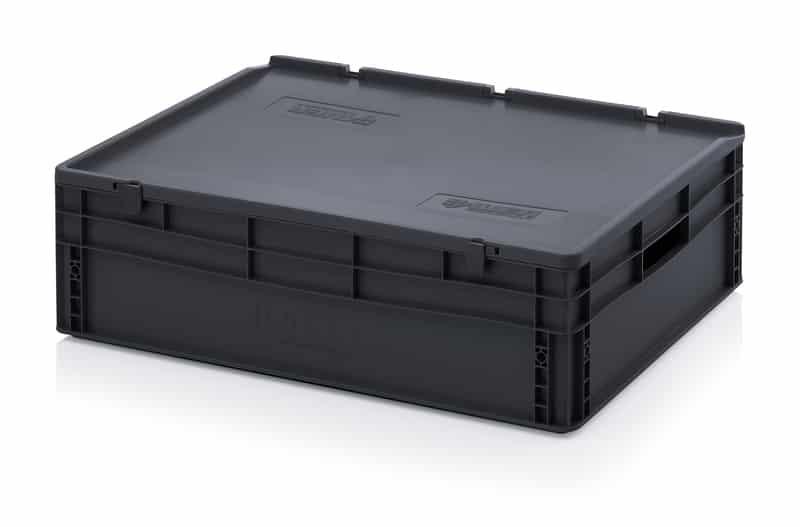 ESD-Eurobehälter / Eurobox mit Scharnierdeckel 80 x 60 x 23,5 cm AUER packaging