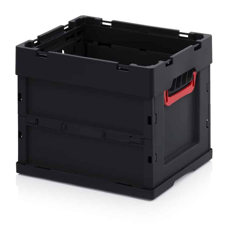 ESD-Faltbox ohne Deckel 40 x 30 x 32 cm AUER packaging