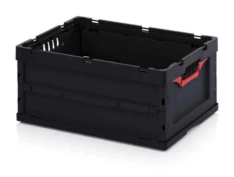 ESD-Faltbox ohne Deckel 60 x 40 x 27 cm AUER packaging