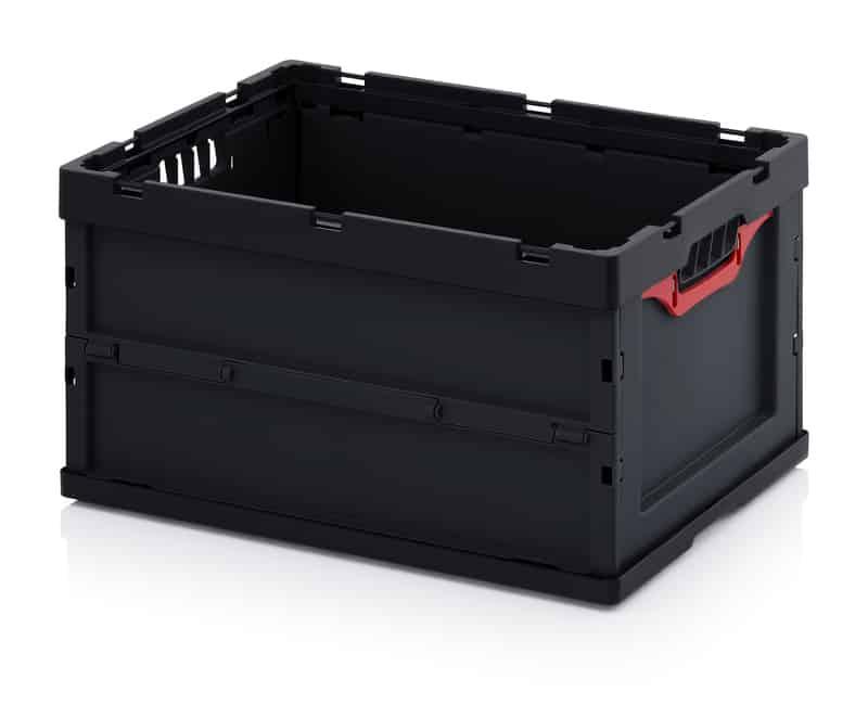 ESD-Faltbox ohne Deckel 60 x 40 x 32 cm AUER packaging