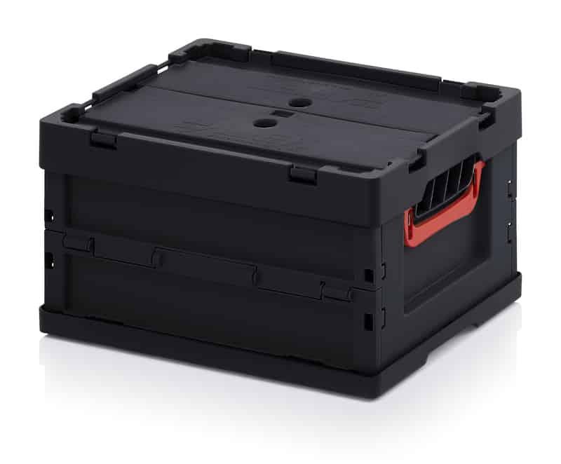 ESD-Faltbox mit Deckel 40 x 30 x 22 cm AUER packaging