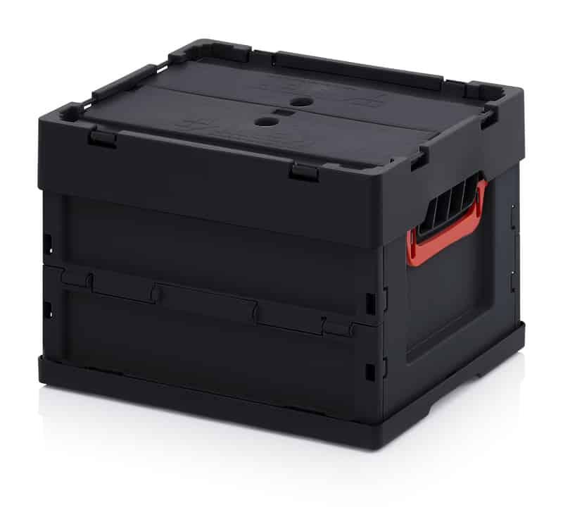 ESD-Faltbox mit Deckel 40 x 30 x 27 cm AUER packaging
