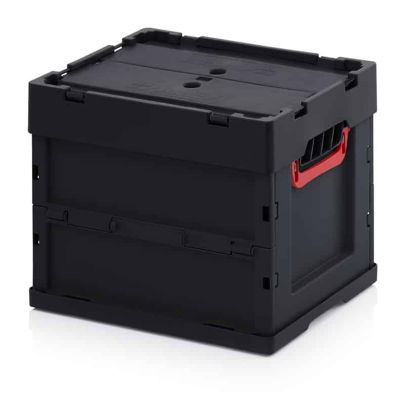 ESD-Faltbox mit Deckel 40 x 30 x 32 cm AUER packaging