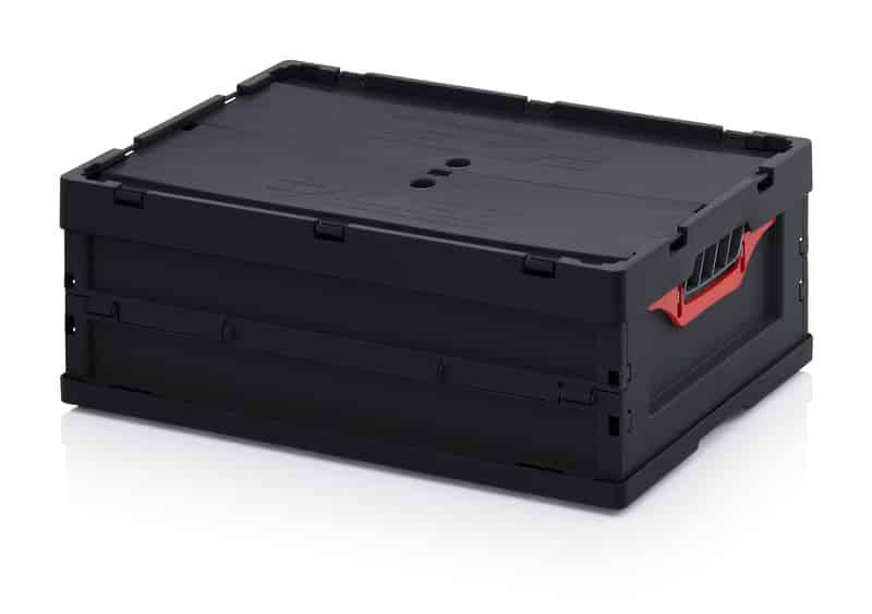 ESD-Faltbox mit Deckel 60 x 40 x 22 cm AUER packaging