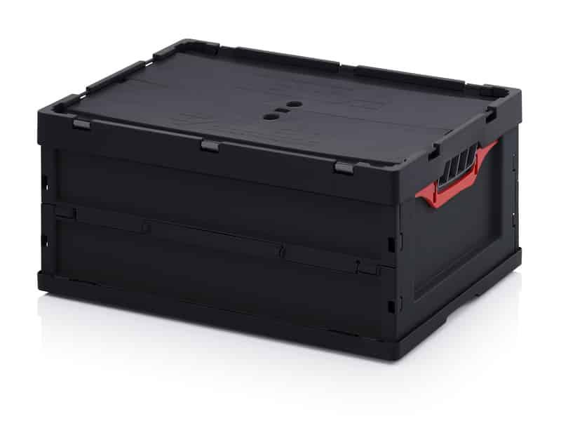 ESD-Faltbox mit Deckel 60 x 40 x 27 cm AUER packaging