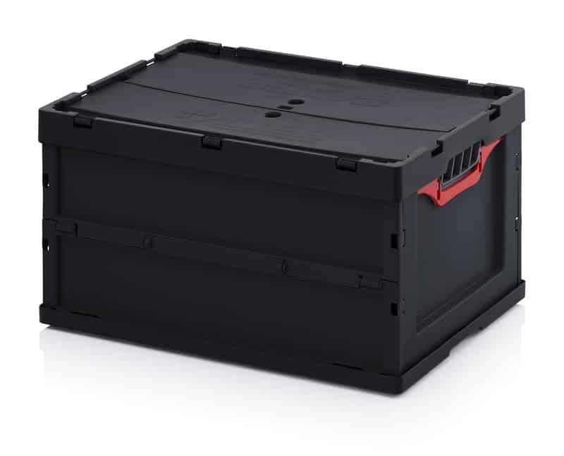 ESD-Faltbox mit Deckel 60 x 40 x 32 cm AUER packaging
