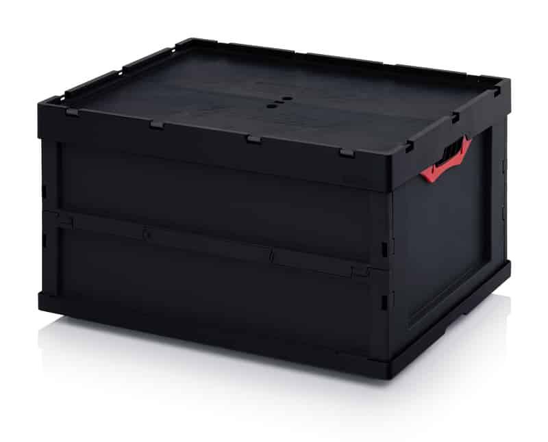ESD-Faltbox mit Deckel 80 x 60 x 44,5 cm AUER packaging