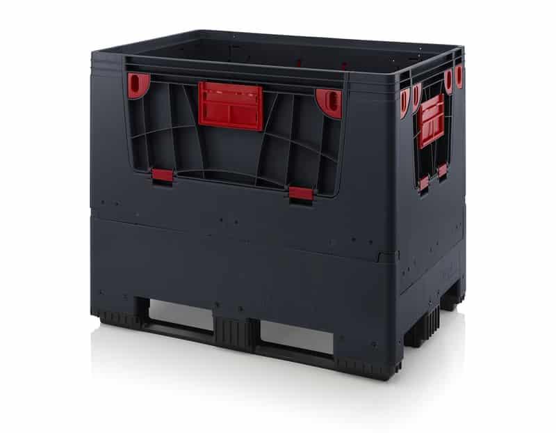 Klappbare ESD-Big Box mit 4 Eingriffsklappen 120 x 80 x 100 cm AUER packaging