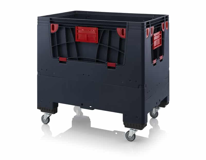 Klappbare ESD-Big Box mit 4 Eingriffsklappen 120 x 80 x 110 cm AUER packaging
