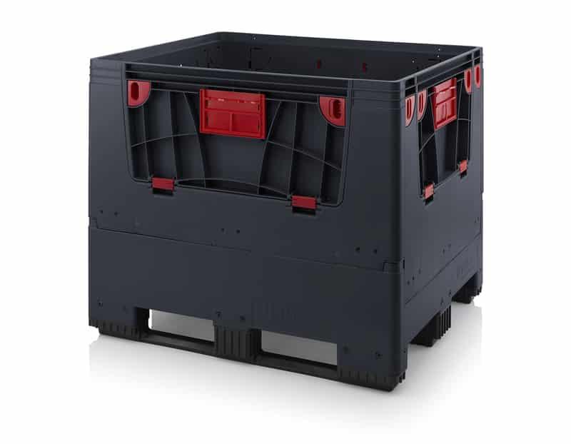 Klappbare ESD-Big Box mit 4 Eingriffsklappen 120 x 100 x 100 cm AUER packaging