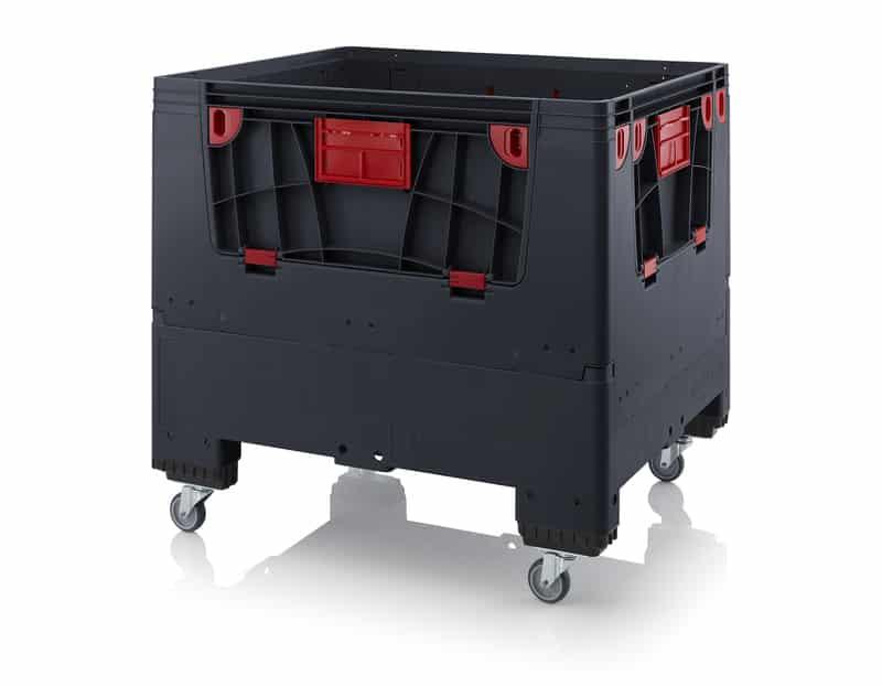 Klappbare ESD-Big Box mit 4 Eingriffsklappen 120 x 100 x 110 cm AUER packaging