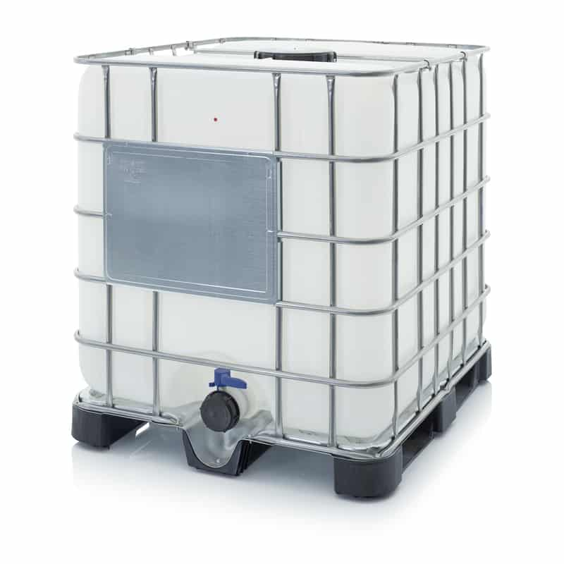 IBC Container mit Kunststoffpalette 120 x 100 x 116 cm AUER packaging