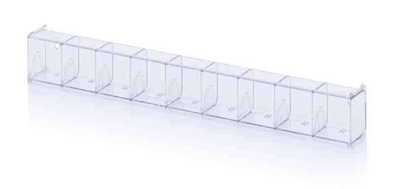 Kippkastenmodule glasklar 60 x 6,2 x 7,7 cm AUER packaging
