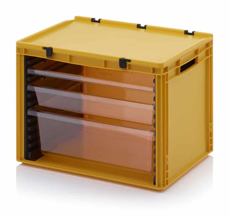 Schubladenbehälter Komplettsystem 1 Stück SB.42, 1 Stück W172-t, 1 Stück W84-t, 1 Stück W24-t, 1 Stück SB.H (= 1 Stück links, 1 Stück rechts) AUER packaging