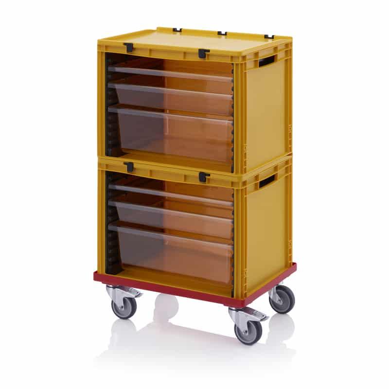 Schubladenbehälter Komplettsystem 2 Stück SB.42, 2 Stück W172-t, 2 Stück W84-t, 2 Stück W24-t, 1 Stück SB.RO, 2 Stück SB.H AUER packaging