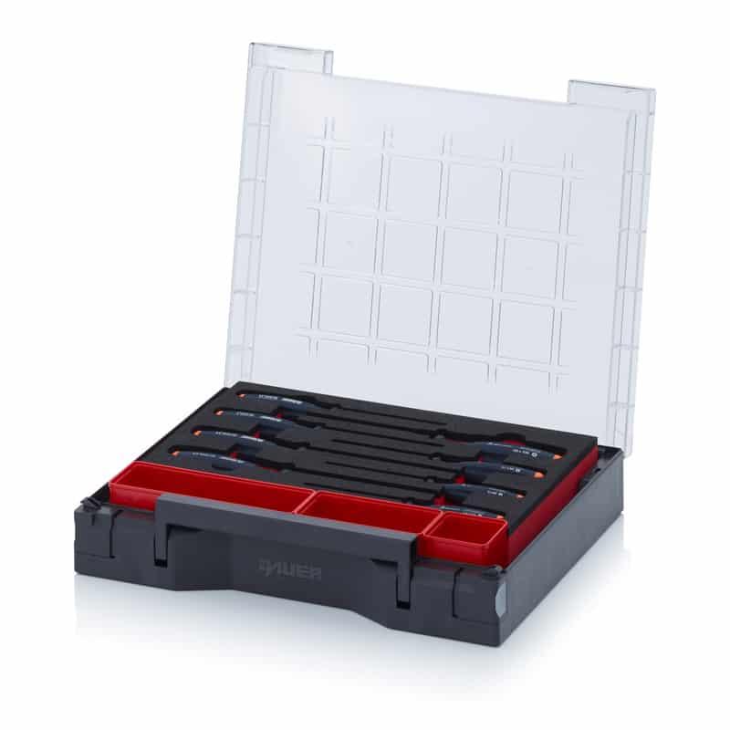 Sortimentsbox bestückt 35 x 29,5 cm mit Werkzeugeinsatz 35 x 29,5 x 7,1 cm AUER packaging