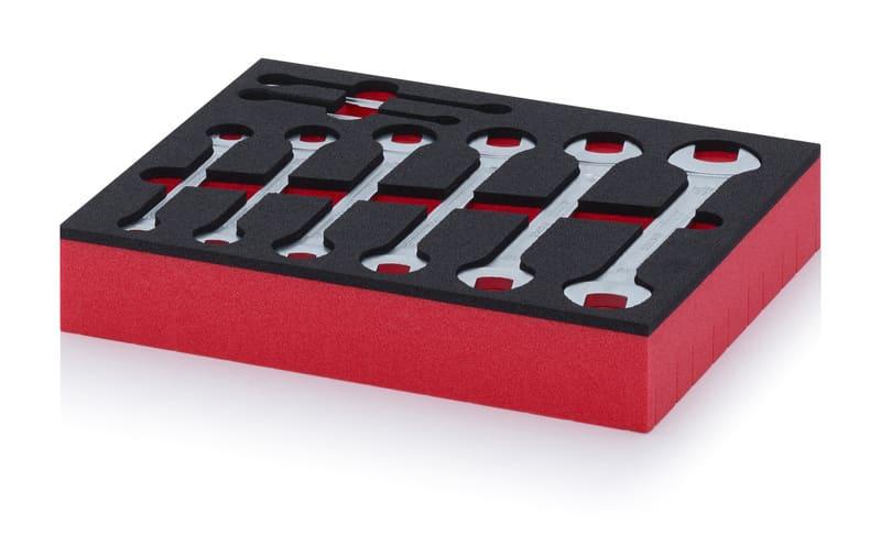 Schaumstoffeinsatz mit Doppelmaulschlüssel Schaumstoffeinsatz mit Doppelmaulschlüssel AUER packaging